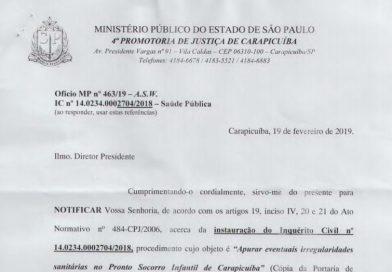 MP acata pedido do CRTR/SP e decide investigar irregularidades em PS Infantil