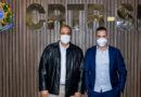 O presidente do CRTR-SP, Júlio César dos Santos, e o Vereador de São Paulo, Danilo do Posto (Podemos) - 08/07/2021