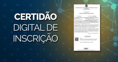 Certidão Digital de Inscrição continua válida durante a pandemia